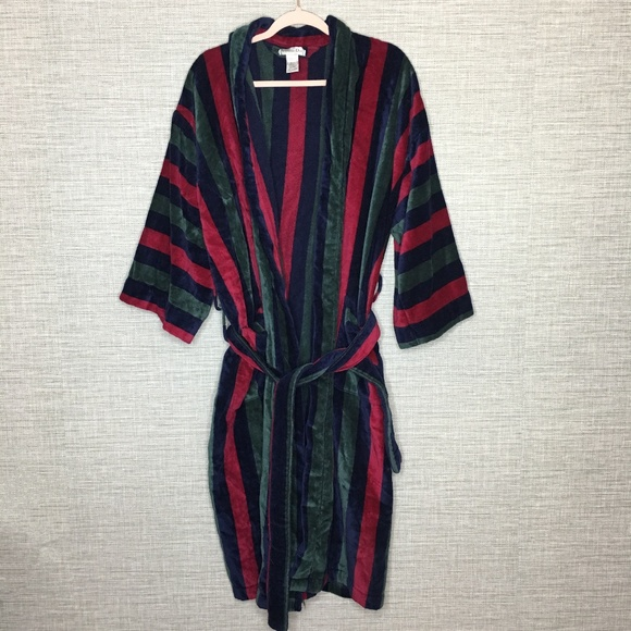 Christian Dior Other - Christian Dior Mens Vintage Robe Plush Striped